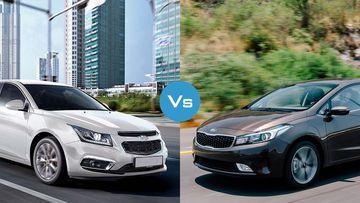 So sánh nhanh Chevrolet Cruze 2017 và Kia Cerato 2017