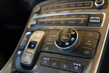 Nút chỉnh chế độ địa hình trên Hyundai Santa Fe 2021
