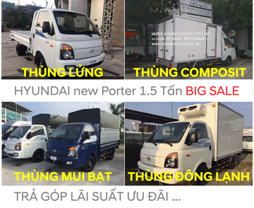 new porter 150 - Tải trọng 1.5 tấn