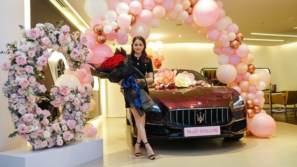 Hoa Hậu Hương Giang trở thành chủ sở hữu Maserati Quattroporte