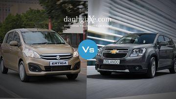 Chọn Suzuki Ertiga hay Chevrolet Orlando với 700 triệu