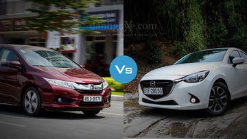 So sánh nhanh Honda City và Mazda 2 Sedan