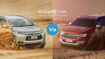 So sánh nhanh Mitsubishi Pajero Sport 2017 và Ford Everest 2017