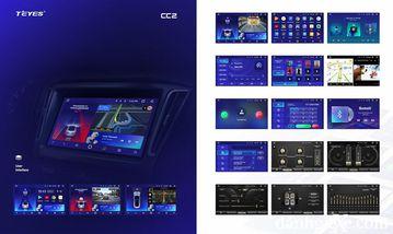 Dòng sản phẩm Teyes CC2 với dạng màn hình ngang tỉ lệ 16:9