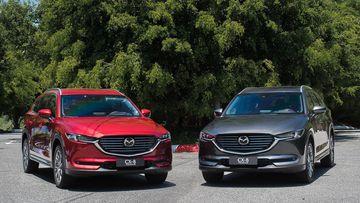 Mazda CX-8 là mẫu xe có thiết kế hiện đại và đẹp mắt trong phân khúc D-SUV