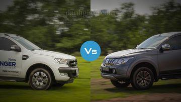 So sánh nhanh Ford Ranger 2016 và Mitsubishi Triton 2017
