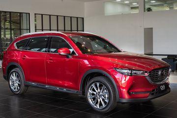 Mazda CX-8 được đánh giá cao nhờ thiết kế hiện đại và đẹp mắt hàng đầu trong phân khúc D-SUV
